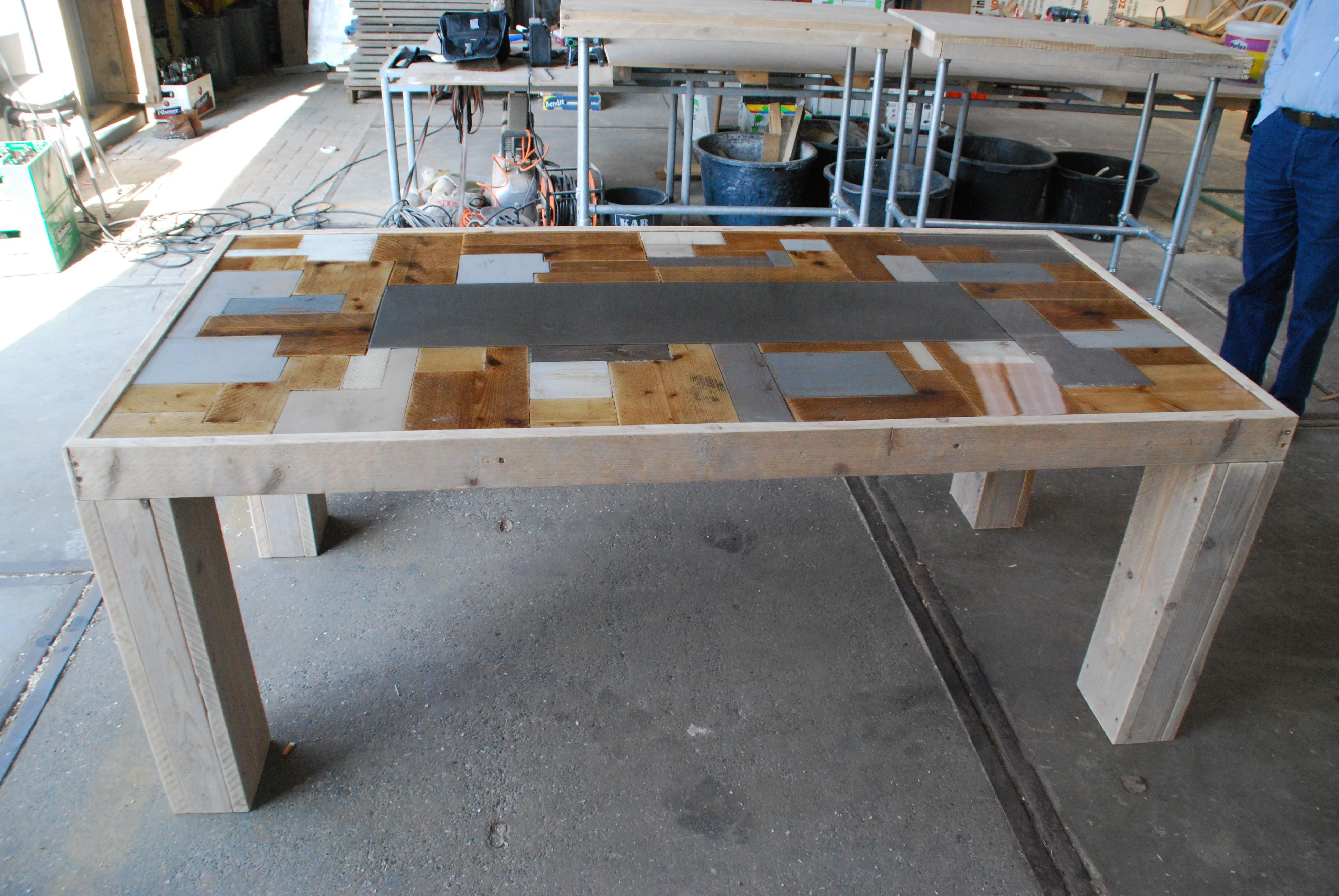 Stalen fr houten tafels bouwpakket babyfoot